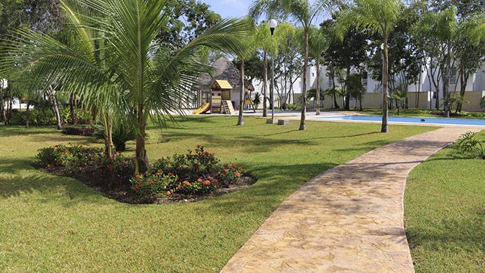 áreas verdes campestre la joya cancún quintana roo