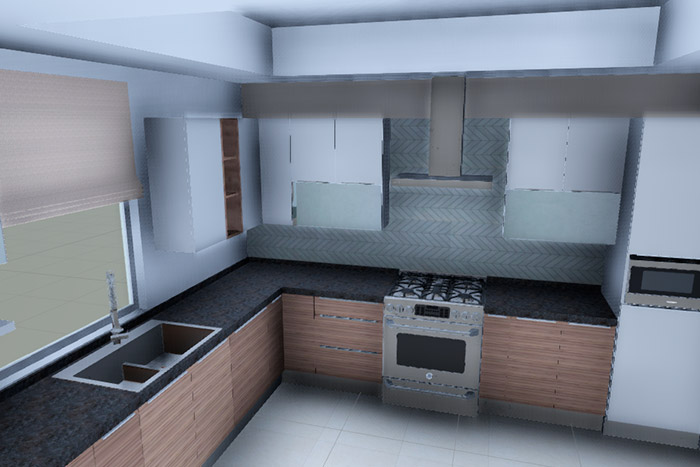 cocina casa modelo ápice acento residencial, ciudad juárez chihuahua