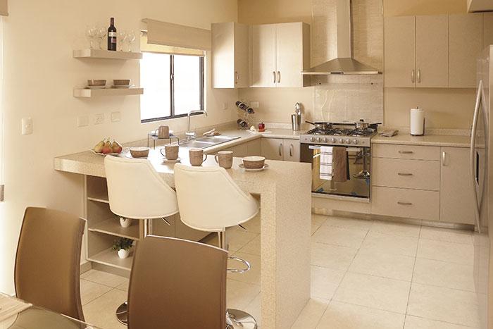 cocina casa modelo santa sofía villa serlío torreón coahuila