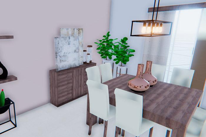 comedor casa modelo ápice acento residencial, ciudad juárez chihuahua