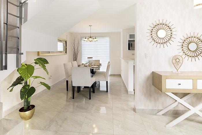 comedor casa modelo arnedo sierra vista residencial guadaluoe nuevo león
