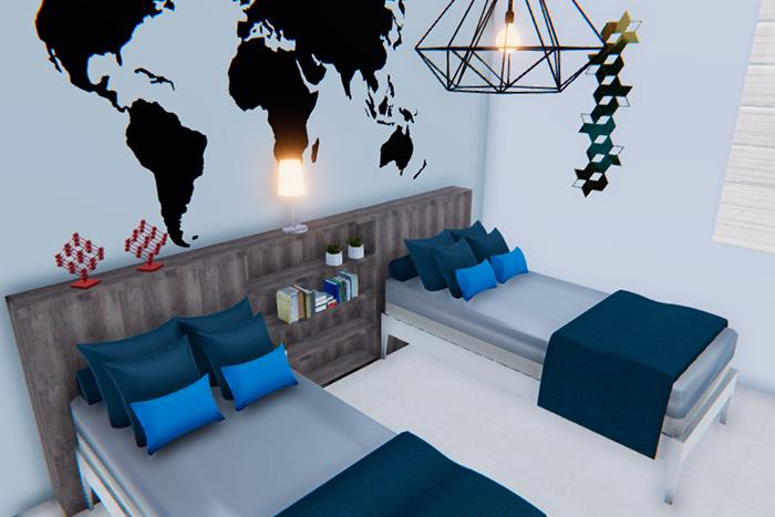 recámara secundaria casa modelo ápice acento residencial, ciudad juárez chihuahua