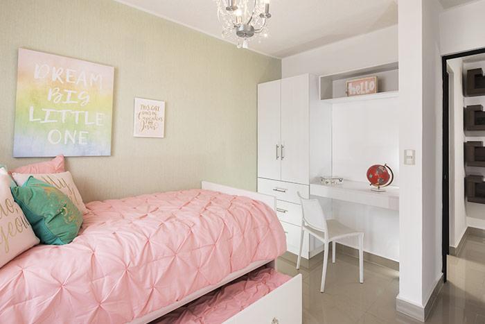 recámara secundaria casa modelo alfaro sierra vista residencial guadaluoe nuevo león