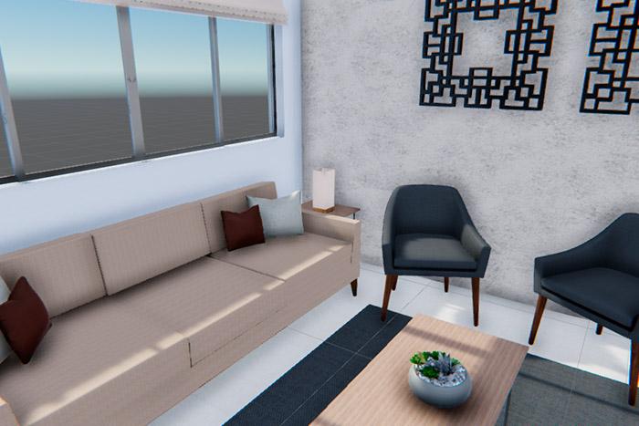 sala casa modelo ápice acento residencial, ciudad juárez chihuahua