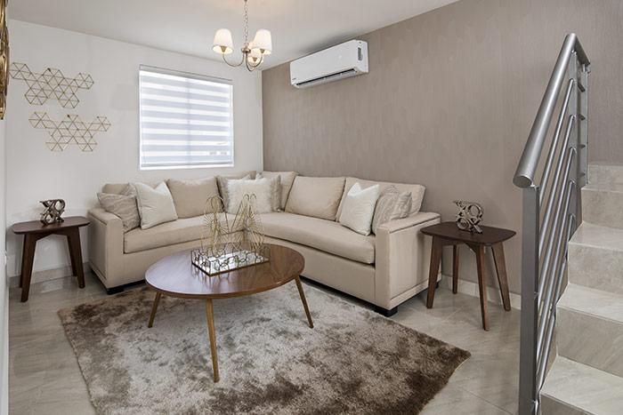 sala casa modelo arnedo sierra vista residencial guadaluoe nuevo león