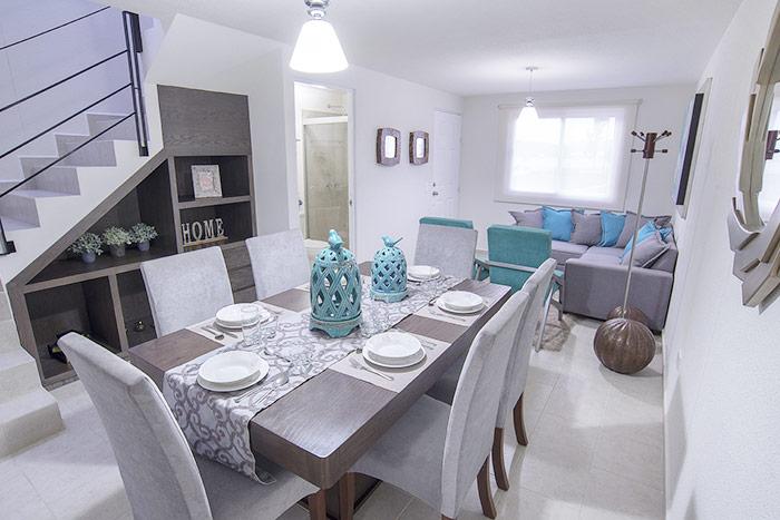 sala comedor casa modelo encino tres cantos residencial querétaro