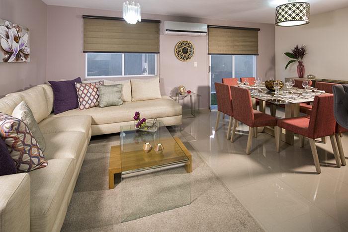sala comedor casa modelo escaray 3n valle la rioja, apodaca nuevo léon