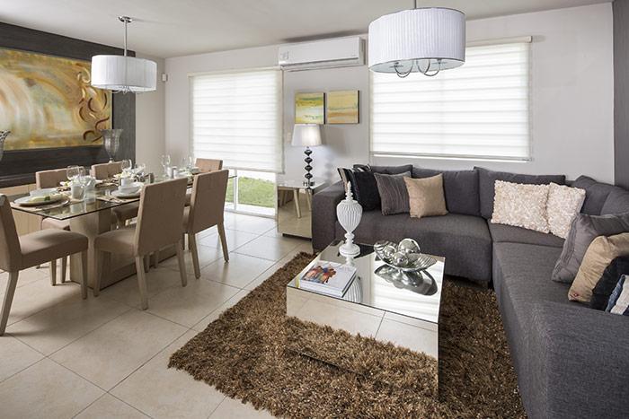 sala comedor casa modelo escaray valle la rioja, apodaca nuevo léon