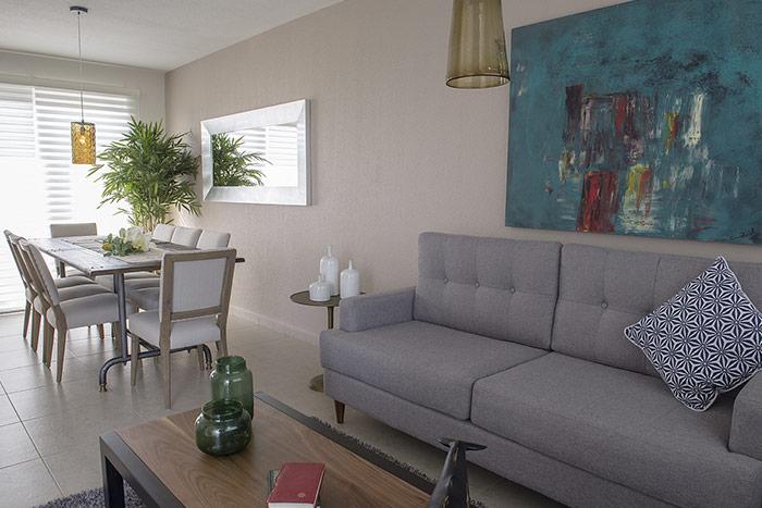 sala comedor casa modelo tabachín tres cantos residencial querétaro