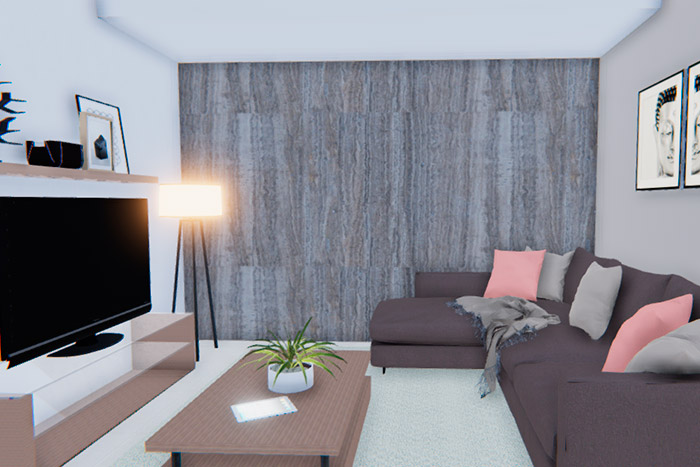sala de tv casa modelo ápice acento residencial, ciudad juárez chihuahua