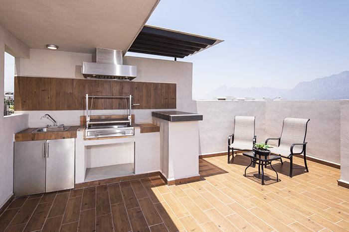 terraza casa modelo berceo cumbres de la rioja nuevo león