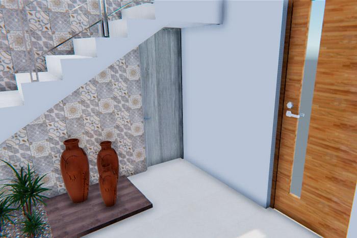 vestíbulo casa modelo ápice acento residencial, ciudad juárez chihuahua