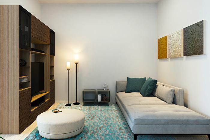 Sala de TV Casa Modelo Almendro Manantiales Corregidora Querétaro