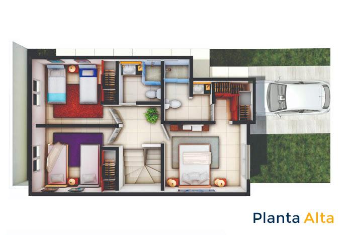 planta alta modelo alfaro sierra vista residencial guadalupe nuevo león