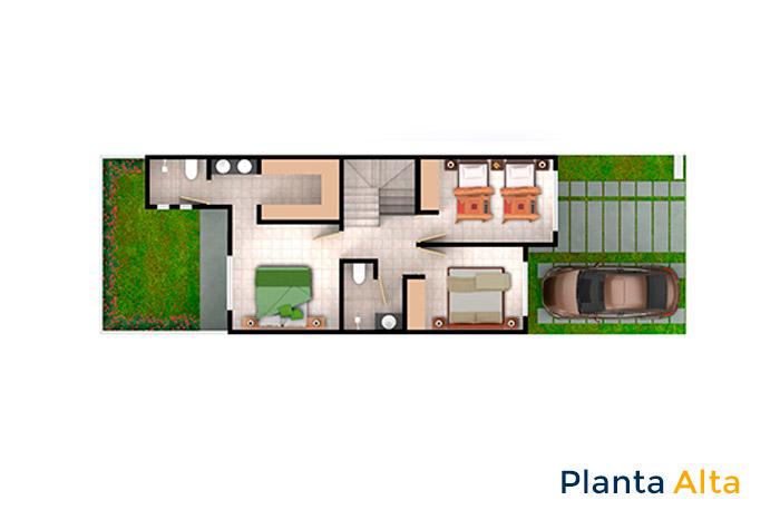 planta alta modelo almendro cordillera residencial  guanajuato