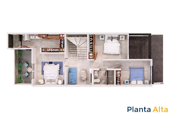 Planta alta modelo almendro rooftop manantiales