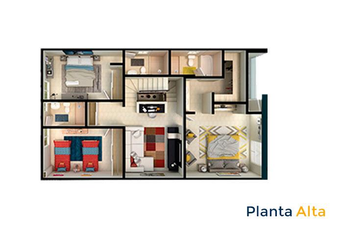 planta alta modelo ápice acento residencial ciudad juárez chihuahua