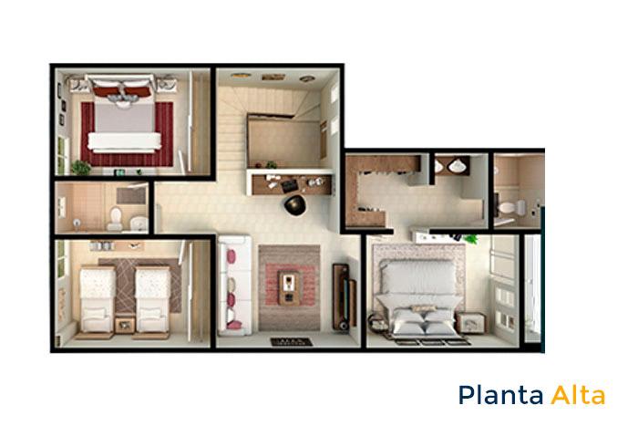 planta alta modelo cartela acento residencial ciudad juárez chihuahua
