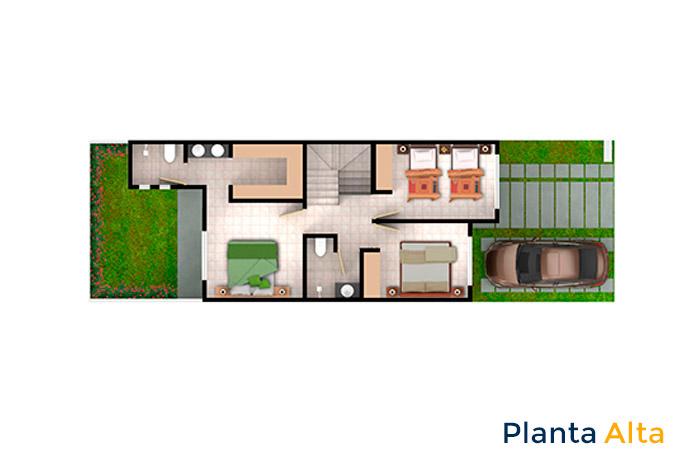 planta alta modelo cedro cordillera residencial guanajuato