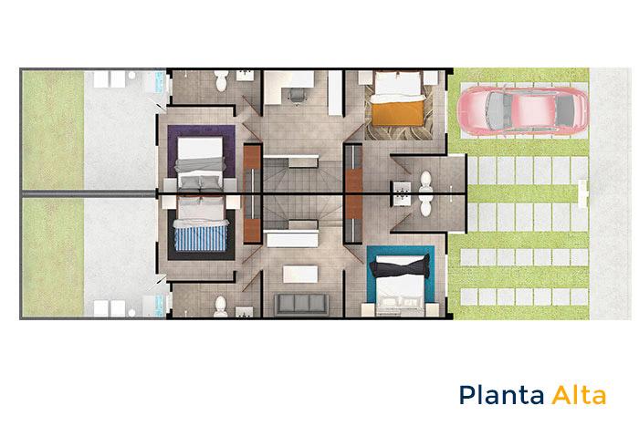 planta alta modelo encino 3r cordillera residencial guanajuato