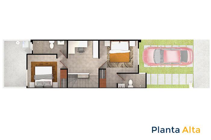 planta alta modelo encino tres cantos residencial querétaro