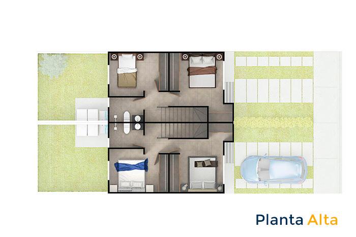 planta alta modelo maple cordillera residencial guanajuato