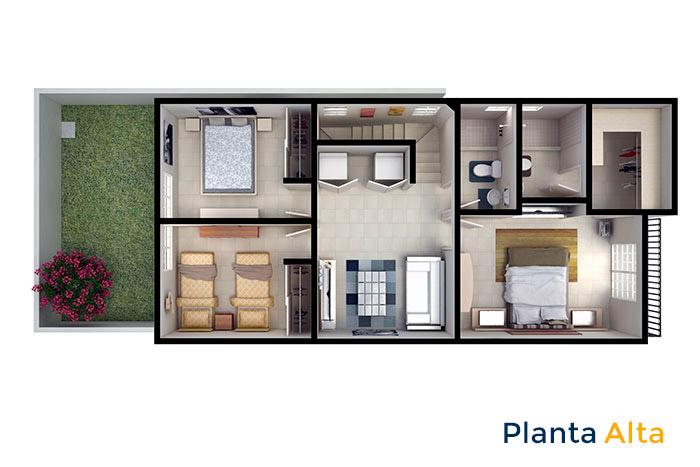 planta alta modelo santa sofía viñedos residencial chihuahua