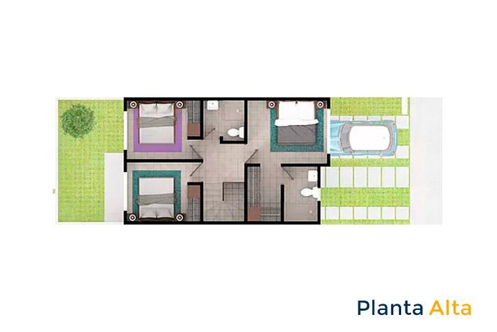 planta alta modelo tabachín cordillera residencial guanajuato