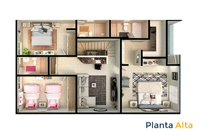 planta alta modelo vértice acento residencial ciudad juárez chihuahua