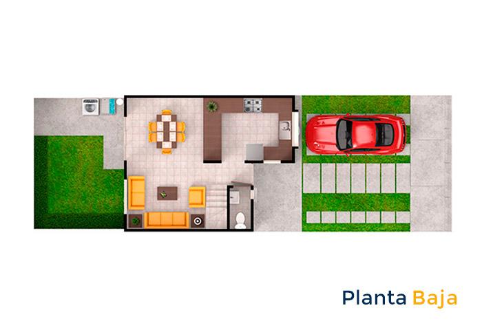 planta baja modelo álamo rancho santa mónica