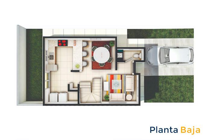 planta baja modelo alfaro sierra vista residencial guadalupe nuevo león