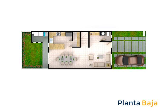planta baja modelo almendro cordillera residencial guanajuato