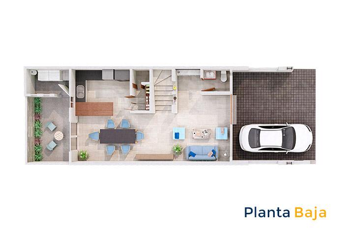 Planta baja modelo almendro rooftop manantiales