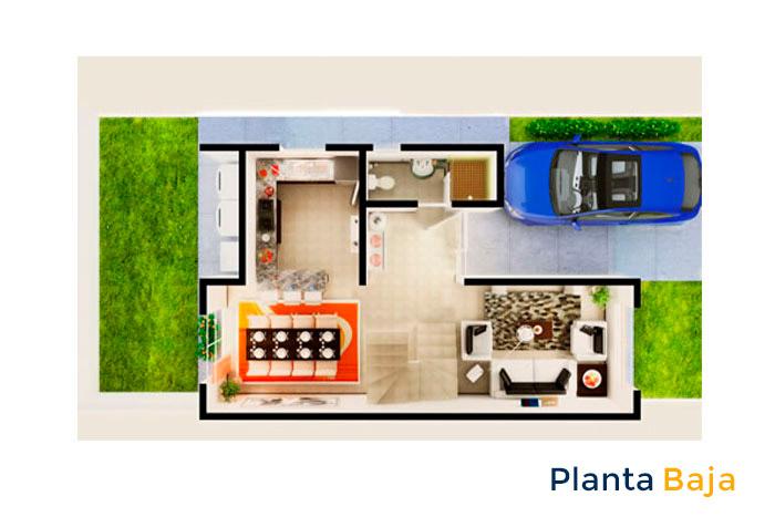 planta baja modelo arnedo sierra vista residencial guadalupe nuevo león