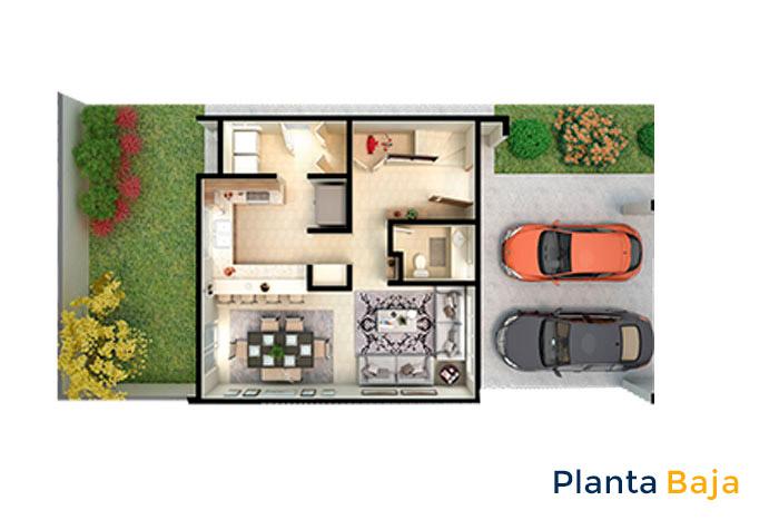 planta baja modelo cartela acento residencial ciudad juárez chihuahua