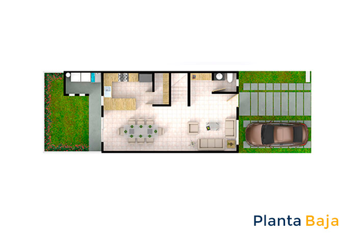 planta baja modelo cedro cordillera residencial guanajuato