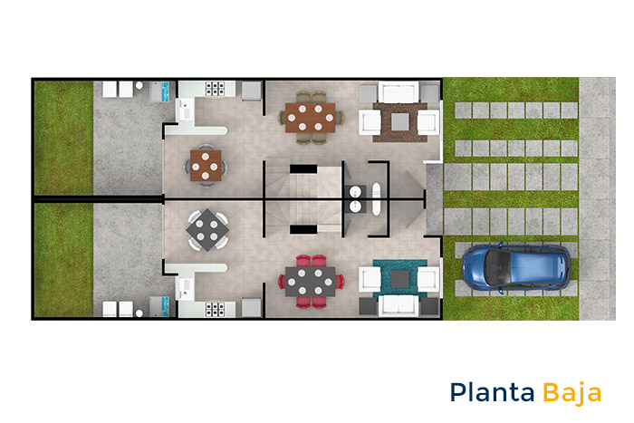 planta baja modelo ceiba cordillera residencial guanajuato