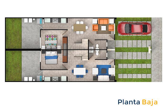 planta baja modelo encino 3r cordillera residencial guanajuato