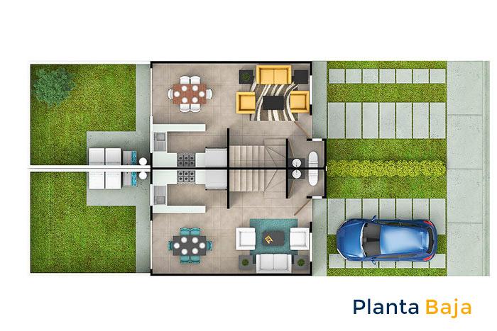 planta baja modelo maple cordillera residencial guanajuato