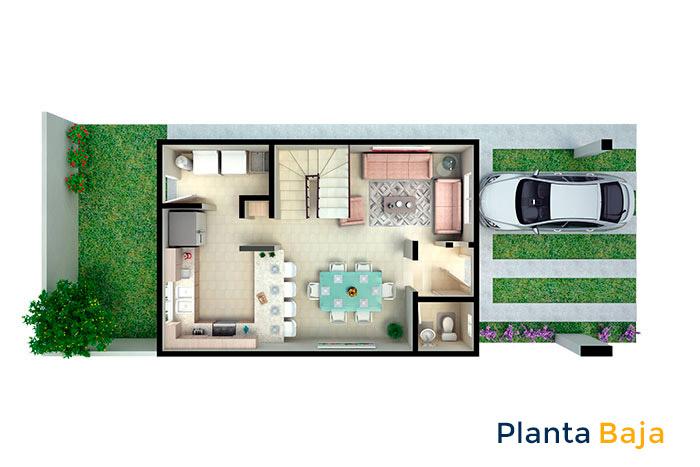 planta baja modelo santa carolina viñedos residencial chihuahua