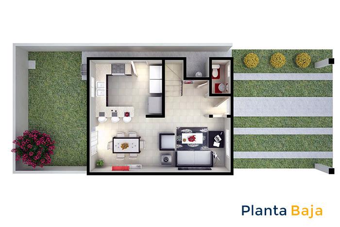 planta baja modelo santa sofía viñedos residencial chihuahua
