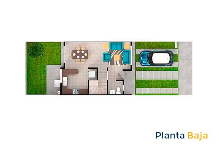 planta baja modelo tabachín cordillera residencial guanajuato