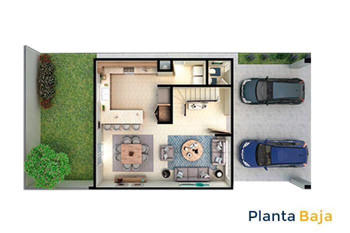 planta baja modelo vértice acento residencial ciudad juárez chihuahua