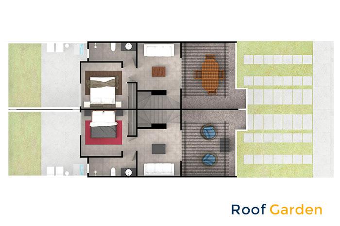 roof garden modelo ceiba cordillera residencial guanajuato