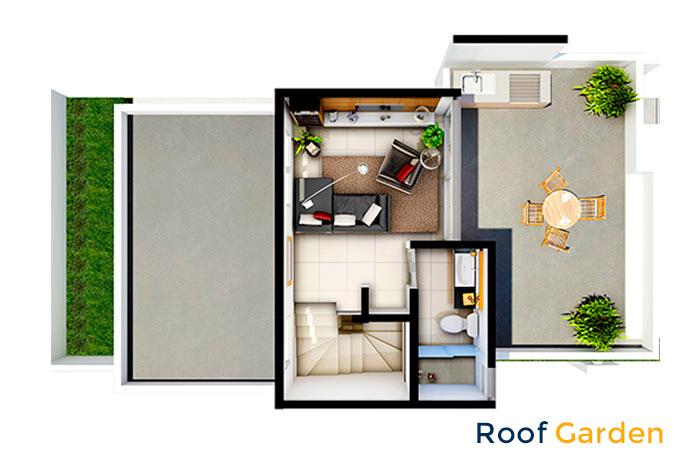 roof garden modelo ezcaray 3n cumbres la rioja nuevo león