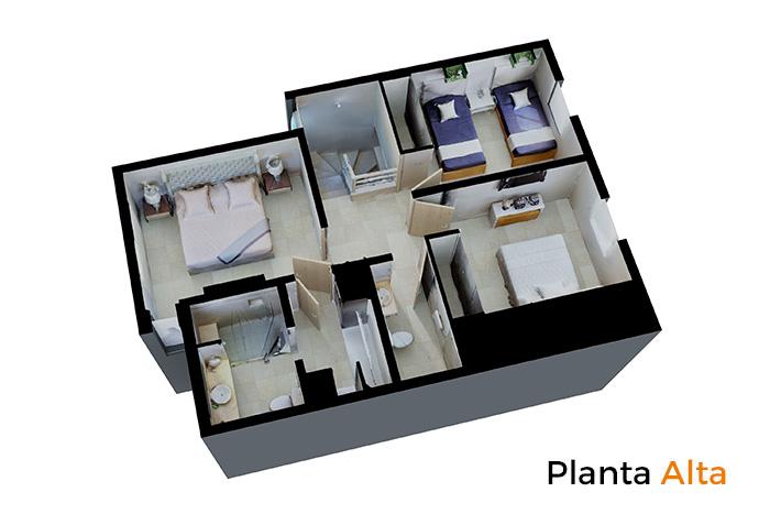 Planta alta modelo Platinum, La Joya Residencial, Playa del Carmen