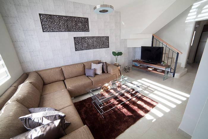 Sala casa modelo San Miguel Las Lunas