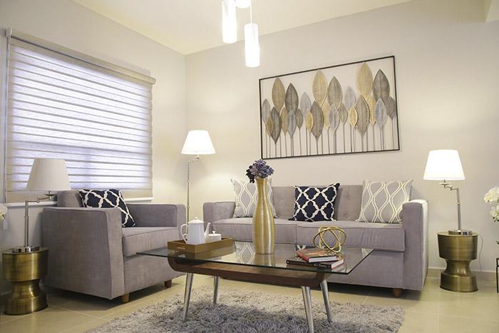 Sala casa modelo santa sofía viñedos residencial chihuahua