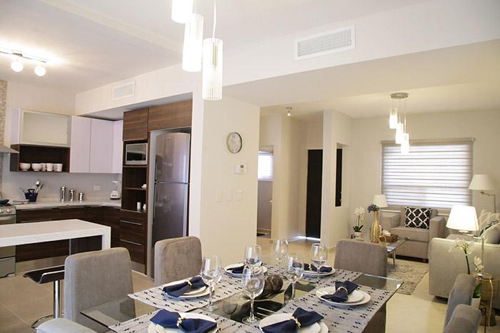 Vista general casa modelo santa sofía viñedos residencial chihuahua