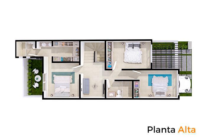 Planta alta modelo Almendro, Paseos del Bosque 3 Residencial